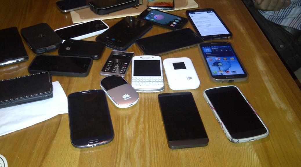 """""""Gruppenfoto"""" beim April-Treffen der Mobile Users Frankfurt (Foto: Sven Henze)"""